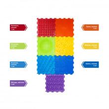Набор массажных модульных ковриков - Радуга