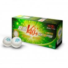 Мяч для настольного тенниса DOUBLE FISH 40+ 2* 10 штук в уп.