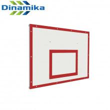 Щит баскетбольный тренировочный 1200х900 фанера на раме (разметка красная)