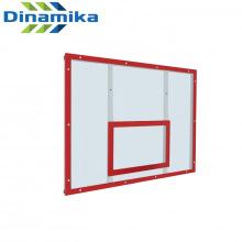 Щит баскетбольный тренировочный 1200х900 оргстекло на раме (разметка красная)