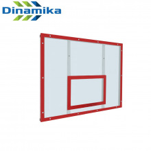 Щит баскетбольный тренировочный 1200х900 поликарбонат на раме (разметка красная)