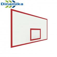 Щит баскетбольный игровой 1800х1050 фанера без рамы (разметка красная)