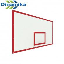 Щит баскетбольный игровой 1800х1050 фанера на раме (разметка красная)