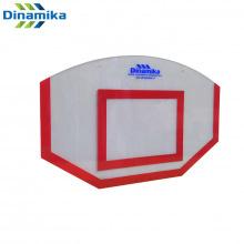 Щит стритбольный 1200х750 поликарбонат (разметка красная)