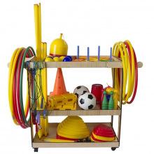 Комплект для детских спортивных игр с тележкой