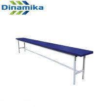 Скамейка для раздевалки 2000 мм сиденье с мягкой прослойкой