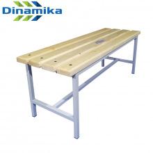 Скамейка для раздевалки 1200 мм сиденье из дерева