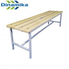 Скамейка для раздевалки 1500 мм сиденье из дерева