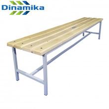 Скамейка для раздевалки 2000 мм сиденье из дерева