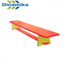 Скамейка для детского сада цветная 1000 мм