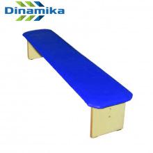 Скамейка для детского сада полумягкая 1300 мм