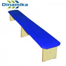 Скамейка для детского сада полумягкая 2000 мм