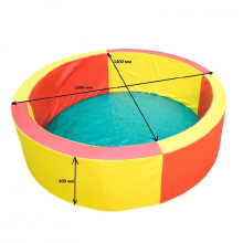Сухой бассейн с набором шаров 1600 мм (в наборе 800 разноцветных шаров)