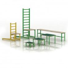 Набор оборудования для ЛФК (стул, скамейка, скамейки-вкладыши)
