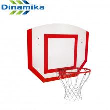 Щит баскетбольный навесной детский фанера с кольцом №3 и сеткой