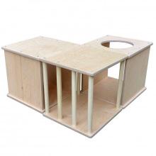 Короба модульные из дерева детский лабиринт