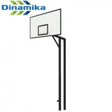 Стойка баскетбольная двухопорная под бетонирование вынос 1200 мм (уличная)
