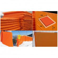Мат для горнолыжных трасс 2000х1500х100 мм Тент (ппу) люверсы