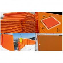 Мат для горнолыжных трасс 2000х2000х100 мм Тент (ппу) люверсы