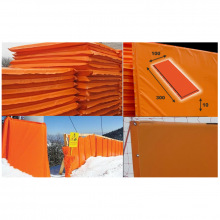 Мат для горнолыжных трасс 3000х1000х100 мм Тент (ппу) люверсы