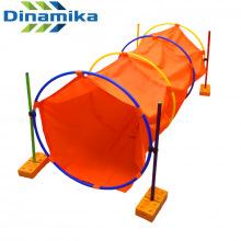 Тоннель детский игровой круглый 2 м с подставками (обручи,палки,кирпичики)