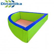 Сухой бассейн угловой 1500х400х100 мм