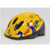 Шлем детский желто-синий с дельфинами